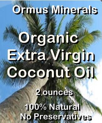 Ormus Minerals Organic Extra Virgin Coconut Oil