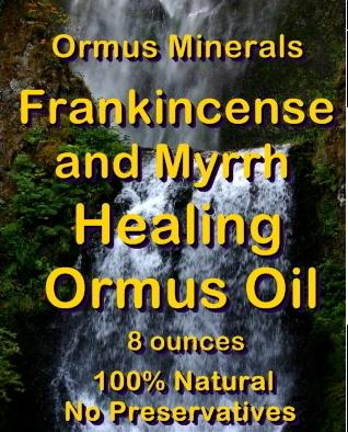 Ormus Minerals Frankincense and Myrrh Healing Ormus Oil