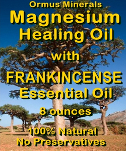 Ormus Minerals Magnesium Healing Oil with FRANKINCENSE EO