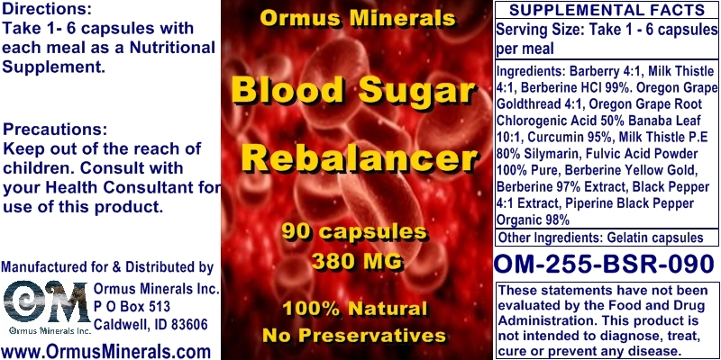 Ormus Minerals - Blood Sugar Rebalancer