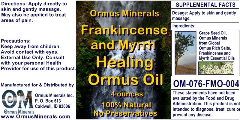 Ormus Minerals Frankincense & Myrrh Healing Ormus Oil