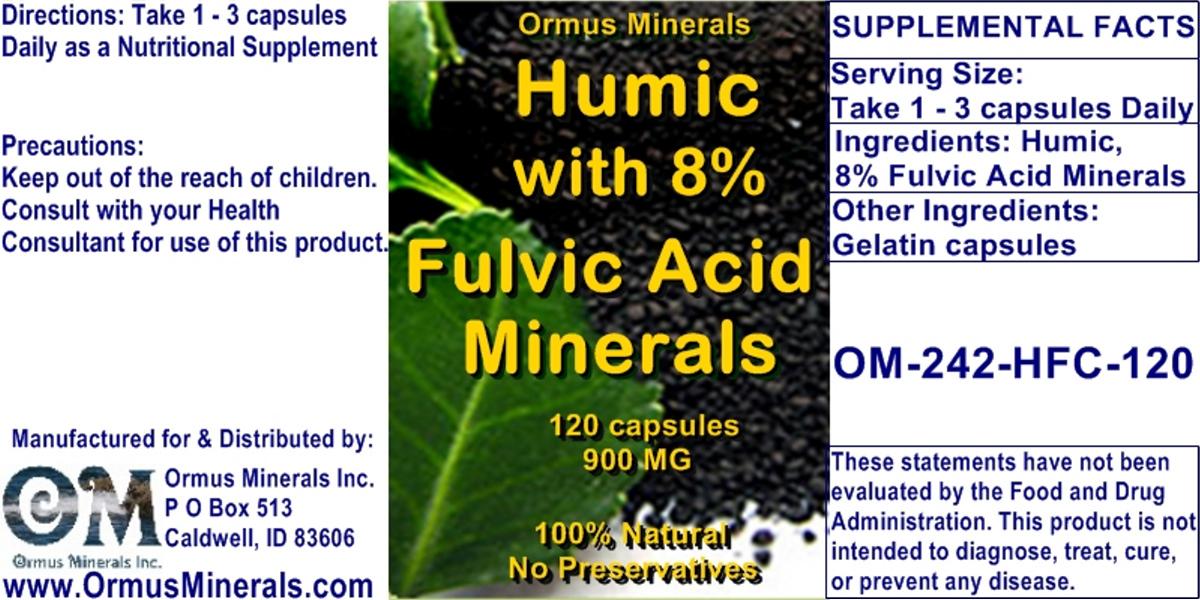 Ormus Minerals Humic Fulvic Acid Mineals