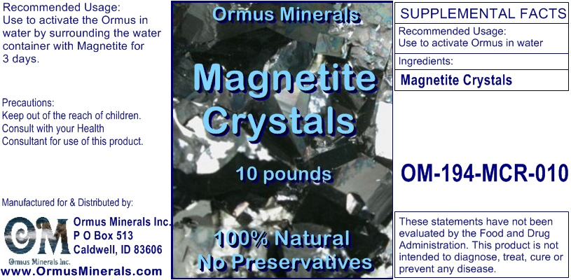 Ormus Minerals - Magnetite Crystals