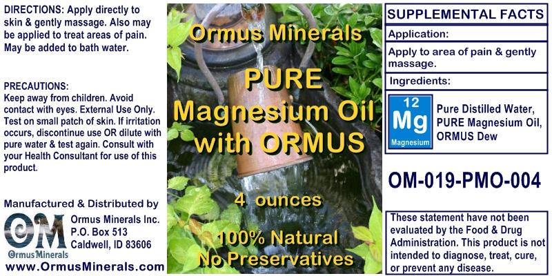 Ormus Minerals Pure Magnesium Oil with Ormus