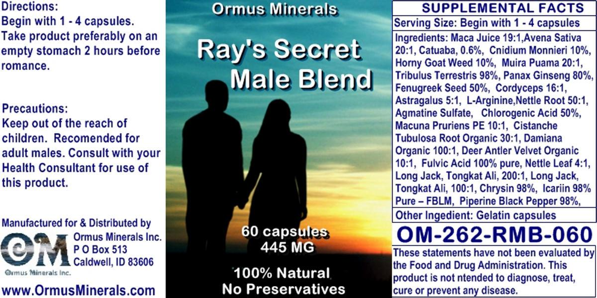 Ormus Minerals - Ray's Secret Male Blend