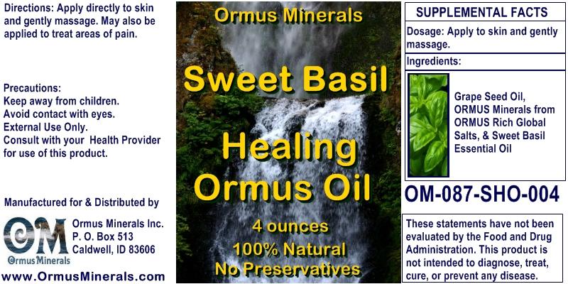 Ormus Minerals Organic Sweet Basil Ormus Oil